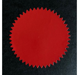 24 Stickers couleur Rouge, Diamètre 4.5 Cm