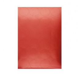 24 Stickers couleur Rouge, Diamètre 4.5 Cm