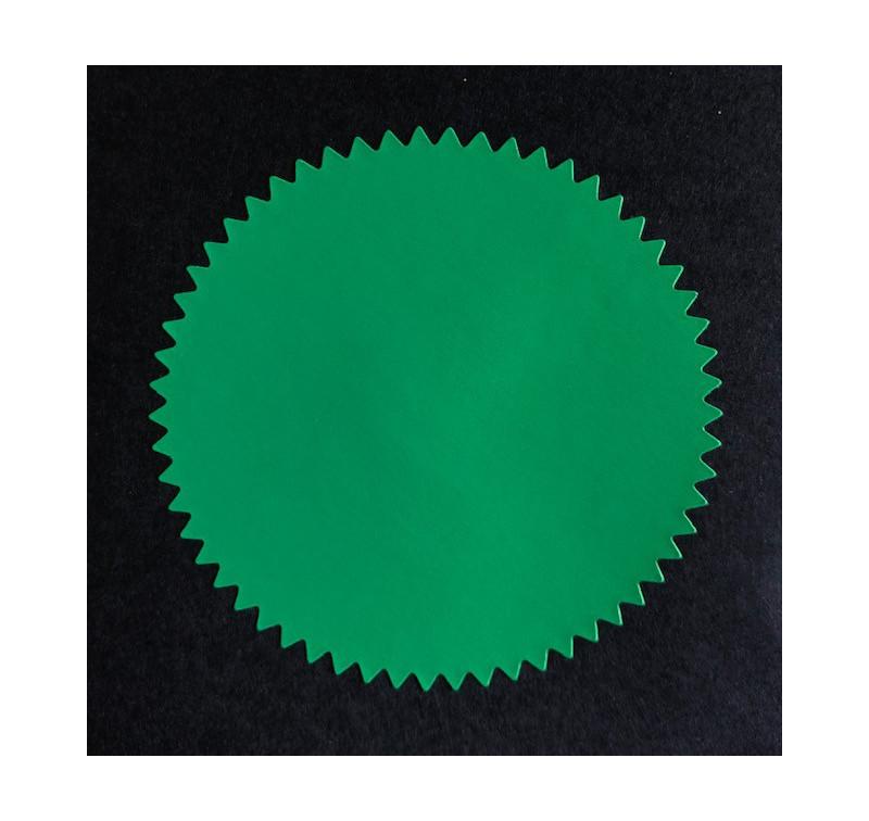 24 Stickers couleur Vert, Diamètre 4.5 Cm