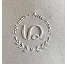 exemple de gaufrage Pince à Gaufrer Shiny modèle rond- Diamètre maxi. 40mm